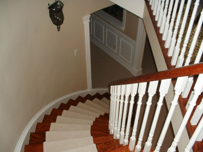 spiral staircase in home renovation